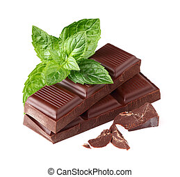 Dark chocolate with mint