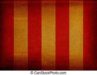 Grunge canvas deck chair cover - Red and yellow striped...