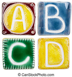 Handmade ceramic letters - Colorful handmade ceramic letters...