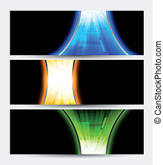 Set of abstract banners. Colorful illustration