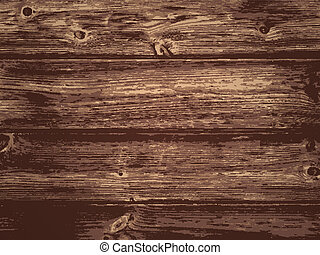 Wooden Background - Illustration of the Natural Dark Wooden...