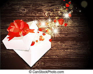 Valentine Day Gift - Valentine Day Magic Gift With Hearts at...