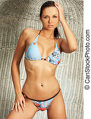 Summer girl wearing a nice bikini - Summer girl wearing a...