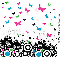 vector background with butterfly