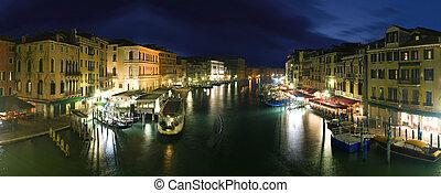 Venice - panoramic view from Rialto bridge
