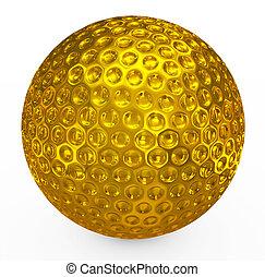 golf ball golden