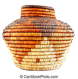 Native American Woven Basket - Colorful Native American...