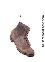 fishhook with old boot