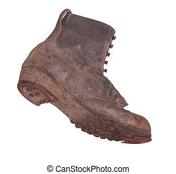 old boot with steel shoe sole