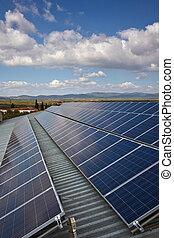 Solar Panel under Blue Sky