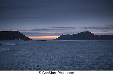 Sunrise in Dutch Harbor Alaska - Early morning sky in Dutch...