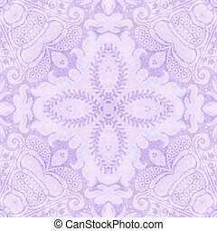 Vintage Light Purple Tapestry - Worn tapestry pattern in...