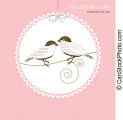 Greeting card with birds