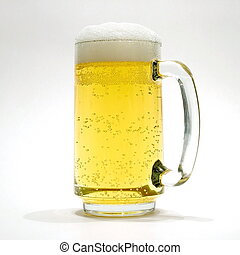 Fresh beer - A glass of fresh beer