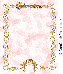 15th Birthday Quinceanera Invitatio