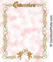 15th Birthday Quinceanera Invitatio - Illustration...