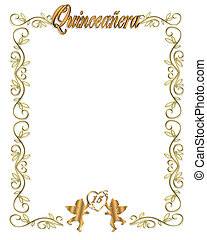 15th Birthday Quinceanera Invitatio - Illustration...