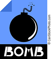 Icon bomb - Creative design of icon bomb