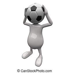 3D People Football Head