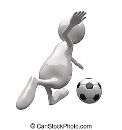3D People with Football