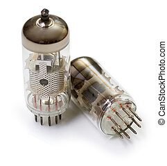 Vacuum tubes - old electronic components, semiconductor...