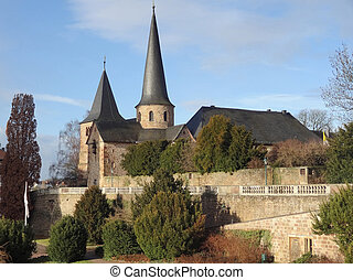 Saint Michaels Church in Fulda, a city in Hesse, Germany