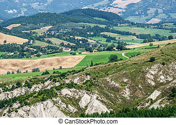 Hills and calanques in Italy - Colle del Carnaio (Romagna -...