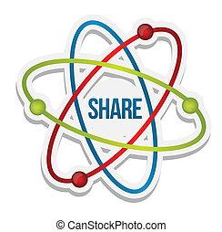 Share icon illustration illustration design over a white...