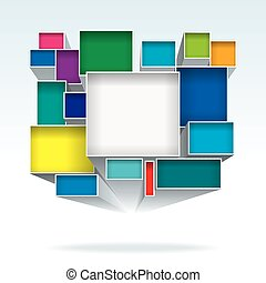 Abstract Boxes - Abstract 3D color boxes background.