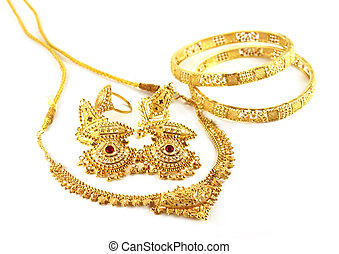 Wedding gold jewelry of Indian subcontinent