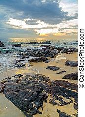 Sun Rising at the beach
