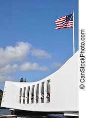 USS Arizona Memorial in Hawaii - USS Arizona Memorial at...