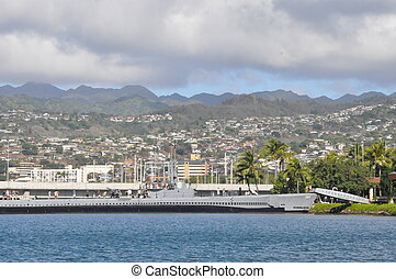 USS Bowfin Submarine in Hawaii - USS Bowfin Submarine at...