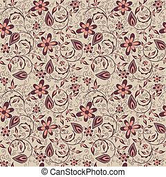 Vector flower pattern background