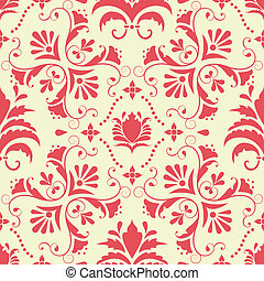 Vector damask pattern background
