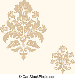 Vector damask pattern element