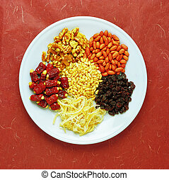 dried fruits on a plate