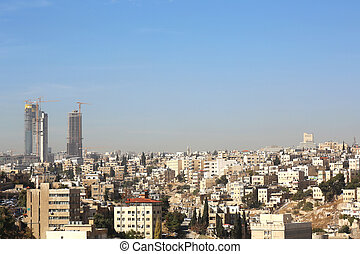 Cityscape Amman - cityscape of the capital Amman, Jordan