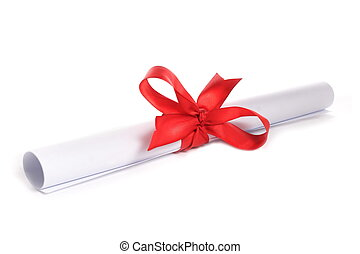 pape and ribbon