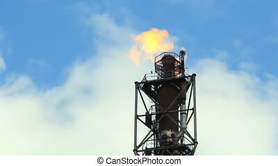 refinery fire gas torch