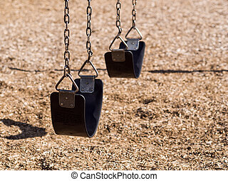 Swingset in playground