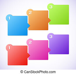 Conceptual vector illustration of colorful cubes with arrows