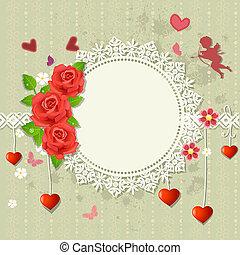 Designer frame heart