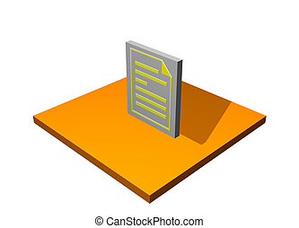 Purchase Order 3d Collection Series in Orange