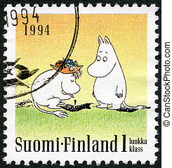 FINLAND - CIRCA 1994: A stamp printed in Finland shows...