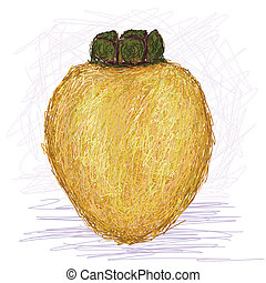 local apple - illustration of fresh local apple fruit with...