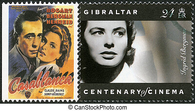 GIBRALTAR - 1995: shows Ingrid Bergman 1915-1982, actress -...