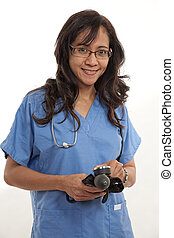 Asian american healthcare worker