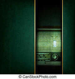 abstract grunge background with retro radio - abstract...