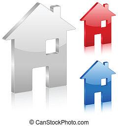 3D home symbol